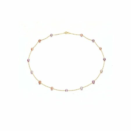 18 ct Gold Necklace with Freshwater Pearls