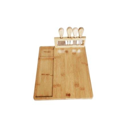 deluxe bamboo cheeseboard gift set (2)