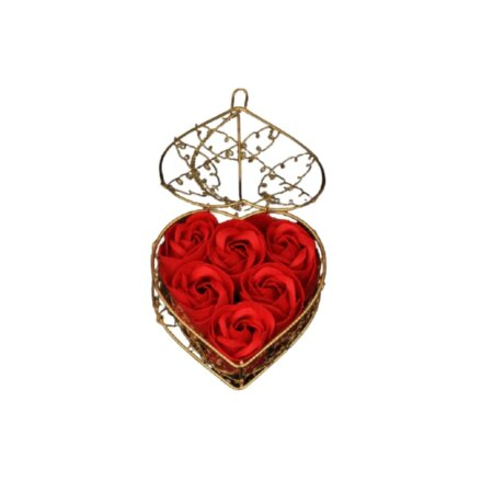 elegant soap roses gift in red