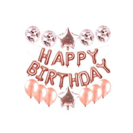 peach birthday party balloons