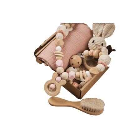 premium baby gift set - powder pink