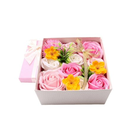 premium eternal soap bouquet box in blooming lady