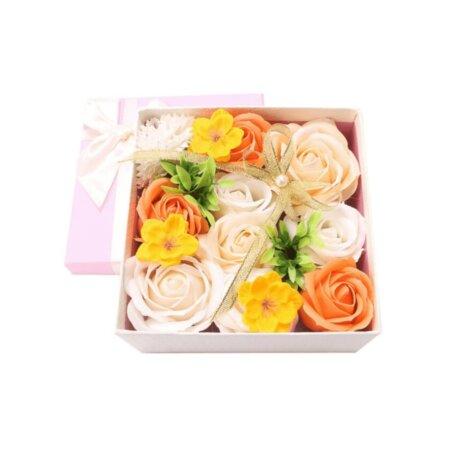 premium eternal soap bouquet box in peach kiss (3)