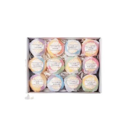 premium organic bath bomb gift set