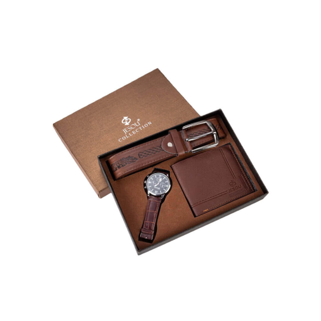 leather watch blue